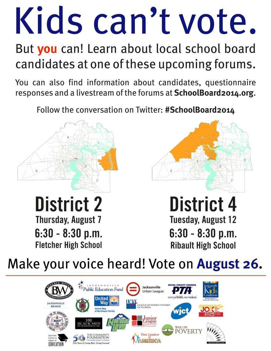 School Board 2014 Candidate Forums